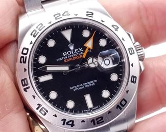 2018 Men's Rolex Explorer II Automatic 42mm Steel Oyster Date #216570 with Box