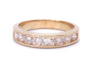 ~1.12 Carat Diamond Estate Band Ring in 14k Yellow Gold - $3199