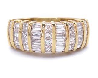 Amazing 1+ Carat Diamond Estate Ring in 14k Yellow Gold - $3450