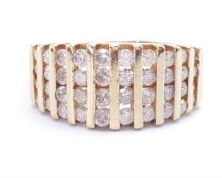 ~1 Carat Diamond Custom Estate Ring in Yellow Gold; $3200