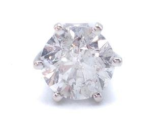 ~.60 Carat Diamond Stud Earring in 14k White Gold; $1200