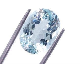 Exceptional 10.44 Aquamarine; Oval Cut - Certified; $12,000
