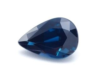 Spectacular 1.00 Carat Natural Blue Sapphire