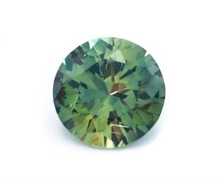 .78 Carat Natural Color Changing Sapphire; Round Cut