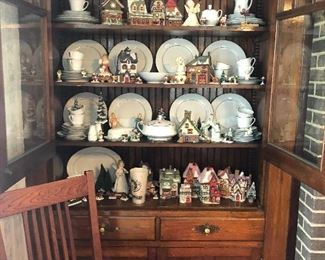This cabinet is a built in; contents only for sale. Thanks!