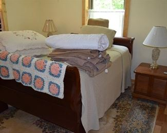 Antique FULL sized sleigh bed
