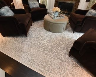 ITEM 15: Safavieh Rug $100  Reflection design rug, light blue gray & cream, 9'x 12'