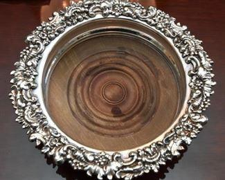 ITEM 30: Pair Wood Bottom Wine Coasters  $12