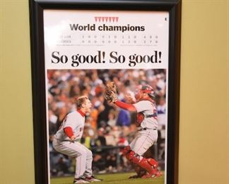 ITEM 46: Red Sox Set of 4 Historic Moment Boston Globe Covers $160