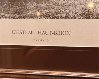 """ITEM 50: Chateau Haut-Brion Winery Framed Print  $35 21.5"""" x 20"""""""