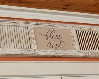 """ITEM 67: Bless this Mess Wood Sign  $20 36"""" x 10.5"""""""
