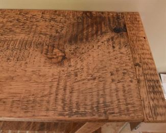 """ITEM 76: Reclaimed Wood Console Table  $95 39"""" wide, 12.5"""" deep, 29.5"""" tall"""