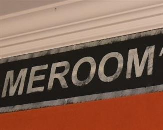 """ITEM 74: Game Room Ave. Wood Sign  $25 40"""" long, 10"""" tall"""