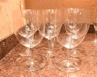 ITEM 79: 12 Baccarat Crystal Wine Glasses  $480 All are free of chips, cracks, and scratches.