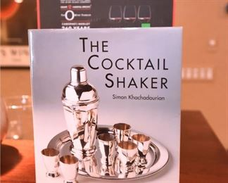 """ITEM 83: """"The Cocktail Shaker"""" Book  $25"""