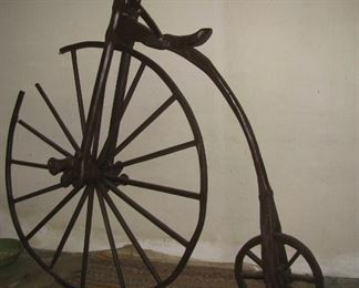Penny Farthing Style Bicycle. Wooden model