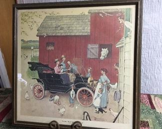 "Rockefeller ""The Boss of the Road"" Framed print signed & numbered"