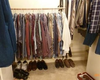 Men's (mostly 4X) clothing - most of the shirts have the cleaners tags