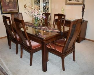 """Bernhardt Flair Division Dining Room Table """"Shibui"""""""