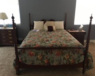 Ethan Allen (Georgian Court, 11-5654) Queen bed (Frame only; mattress/box spring sold separately).  $800