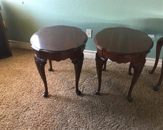 Ethan Allen oval end tables (11-8606) (sold separately).  $300 each;  $500 for pair.