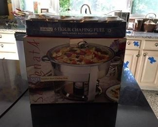 "SeRenata 5 Quart Stainless Steel Chafing Dish Together with 9 ""Sterno"" $38"