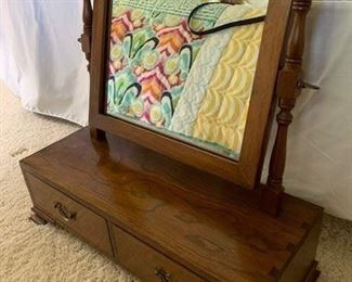 Antique Walnut Dressing Table Mirror $175