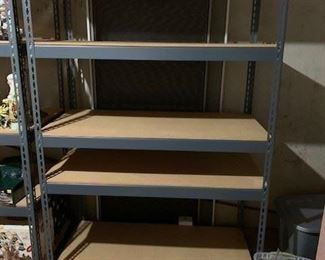 2 adjustable shelving - commercial grade steel and mdfb $200 each