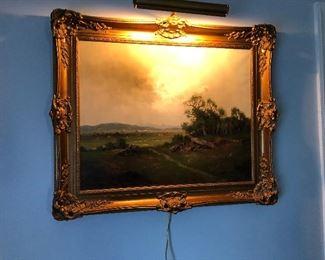 https://www.ebay.com/itm/114240039089BU1028: Ernst Jugel Germany B 1913 Oil on Canvas Signed Landscape 3rd Party Shipping Auction