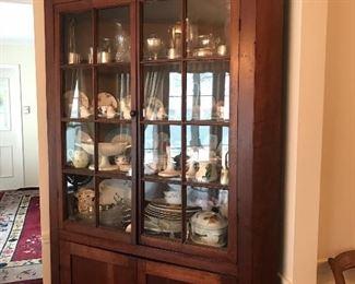 Beautiful primitive corner cabinet