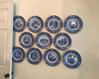 Wedgwood Women's League  University of Michigan plates