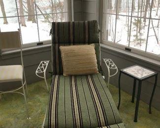 Mid century wrought iron lounger