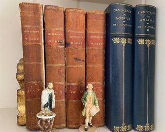 Rare Leather bound Jefferson's Works - Circa1830.