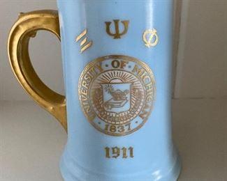 1911 University of Michigan stein
