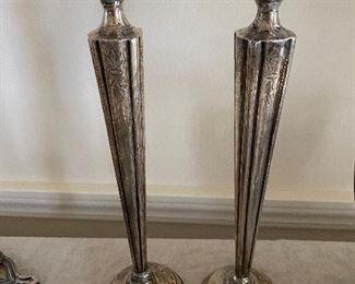 Sterling candlestick holders