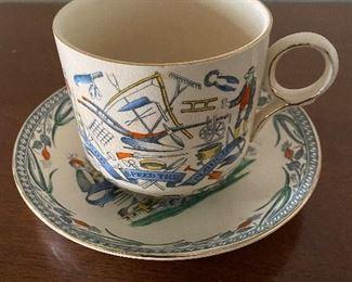 Burgess and Leigh Farmers Arms God Speed the Plow jumbo cup saucer