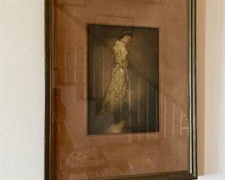 John Melville Kelly original color etching     Yellow Holoku- Hawaii