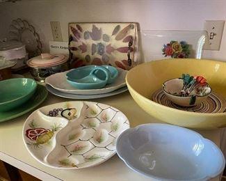 Vintage dishes, bowls etc.