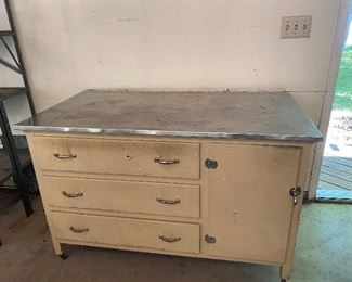Cool cabinet with stainless steel top