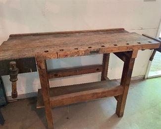 Antique heavy workbench
