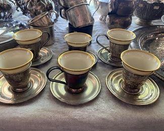 Lenox sterling demitasse cups- set of 6