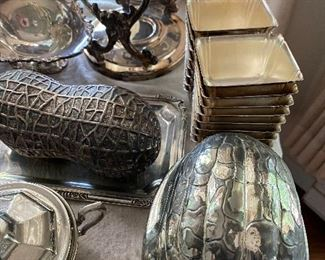 Vintage silver plate nut dishes. Pretty cool!