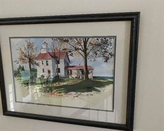 Watercolor by Ann Bluft