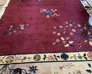 Stunning Antique Chinese Art Deco wool rug