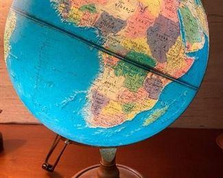 Vintage lighted globe