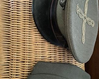 WW II hats. Excellent condition