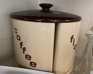 Vintage ceramic canister set