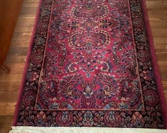 """Vintage Karastan """"Sarouk"""" 3 x5 There are two rugs that are the same size"""