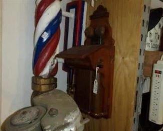 Barber Pole - Vintage Telephone - Motor