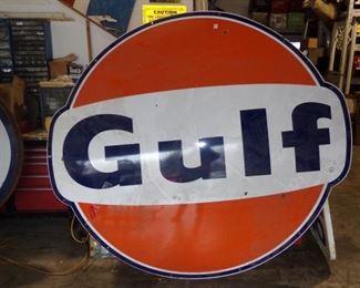 LARGE metal Gulf Sign